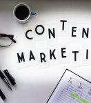 Hier wird Content Marketing in einzelnen Buchstaben zusammengestellt